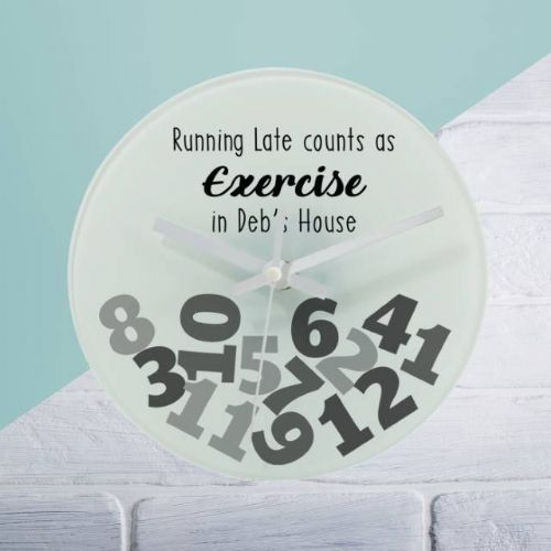 Exercise Glass Clock